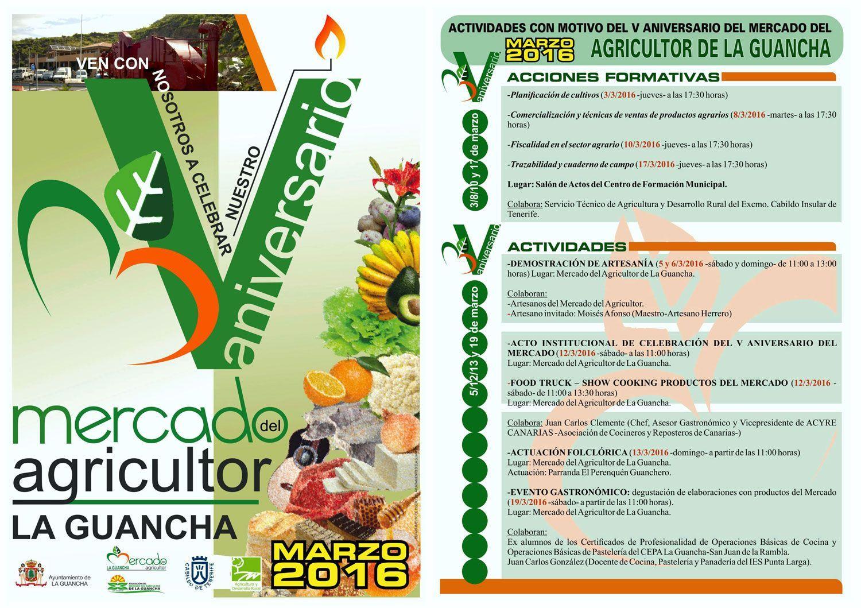 Quinto aniversario mercado agricultor de la guancha